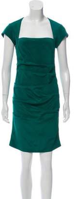 Nicole Miller Silk Sheath Dress Green Silk Sheath Dress