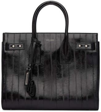 Saint Laurent Black Eel Small Sac De Jour Bag