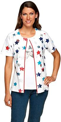 Factory Quacker Short Sleeve Zip Front Jacket and Star Tank