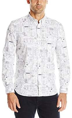 French Connection Men's Hells Handmaiden Long Sleeve Button-Down Shirt