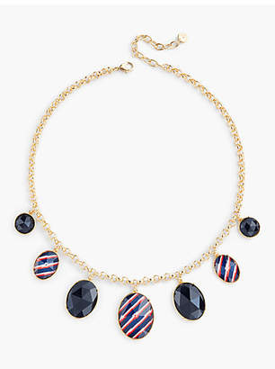 Talbots Stripes & Beads Necklace