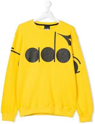 Diadora Junior TEEN logo printed sweatshirt