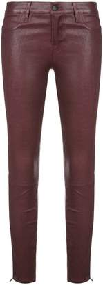 J Brand wet-look skinny trousers