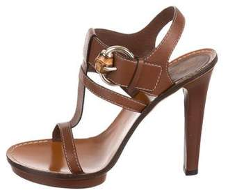 Gucci Platform Bamboo Sandals