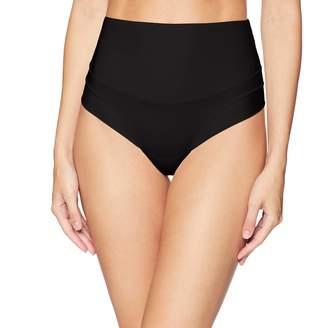 Yummie Women's Tummie Tamers Mid Waist Thong Underwear