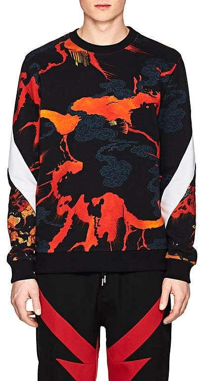 Men's Hellfire-Print Cotton Sweatshirt