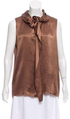 Lanvin Silk Sleeveless Top