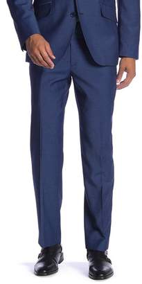 "Co SAVILE ROW New Heathrow Blue Modern Fit Gab Pants - 30-34"" Inseam"