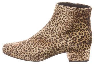 Saint LaurentSaint Laurent Babies Leopard Print Velvet Boots