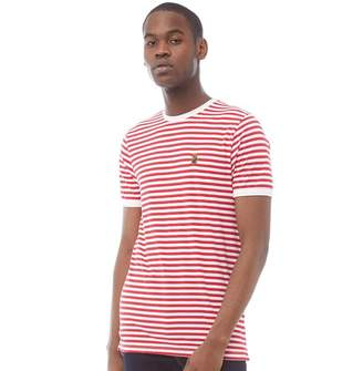 d7c95a4db3 Mens Red And White Striped T Shirt - ShopStyle UK