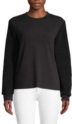 Kenneth Cole New York Faux Shearling Sweatshirt