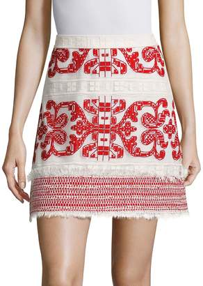 Alexis Women's Anzel Embroidered Mini Skirt