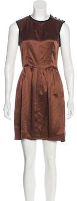 Proenza Schouler Silk Pleated Mini Dress