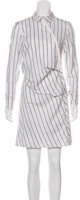 J.W.Anderson Striped Asymmetric Mini Dress