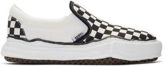 Miharayasuhiro Black and White Original Sole Slip-On Sneakers