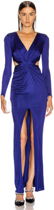 HANEY Erin Jersey Gown in Cobalt | FWRD