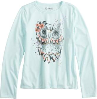 Mudd Girls 7-16 & Plus Size Long Sleeve Graphic Tee