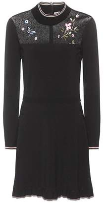 RED Valentino Embroidered knit minidress
