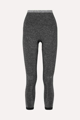 LNDR Tone Cropped Stretch-knit Leggings - Gray