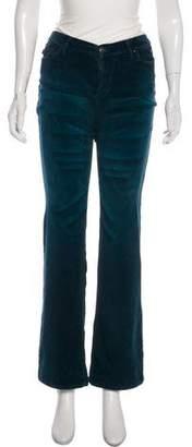 Just Cavalli Velvet Mid-Rise Pants