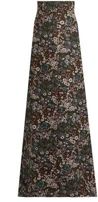Miu Miu Floral-jacquard maxi skirt
