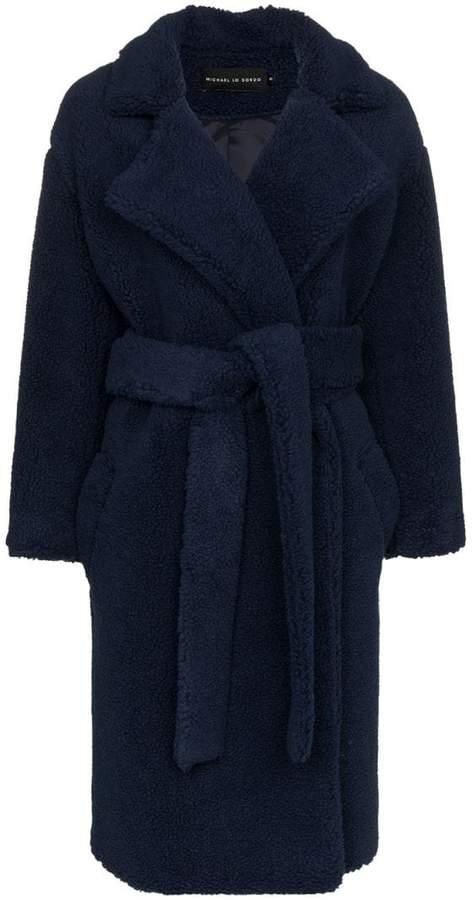 Michael Lo Sordo fili faux fur belted coat