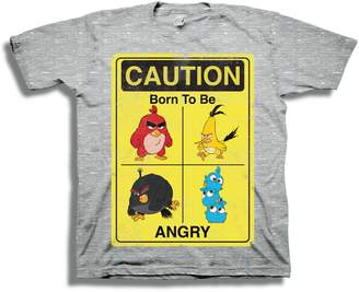 Freeze Angry Birds Caution Born To Be Angry Tee (Big Boys)