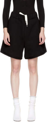 Alexander Wang Black Fleece High-Waist Gym Shorts