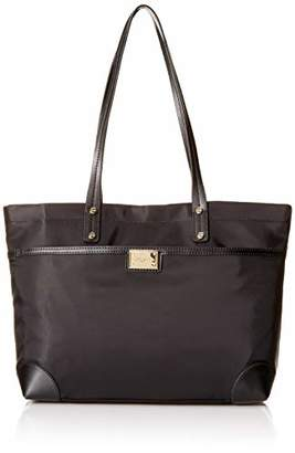 Calvin Klein womens Teodora Nylon Front Zipper Pocket Tote