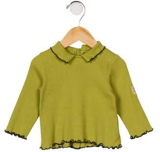 Catimini Girls' Rib Knit Long Sleeve Top