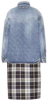 Balenciaga Oversized layered cotton jacket