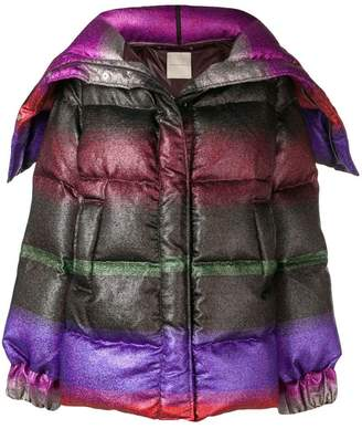 Marco De Vincenzo multicoloured short padded coat