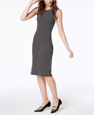 Almost Famous Juniors' Houndstooth Lace-Up Dress