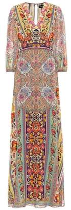 Etro Embroidered silk maxi dress