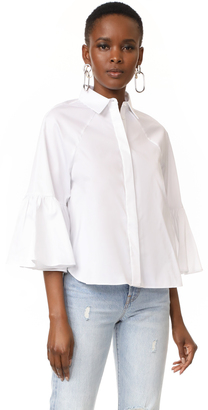 KENDALL + KYLIE Bell Sleeve Top $155 thestylecure.com