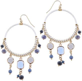 Nakamol CHICAGO Mixed stone hoop earrings
