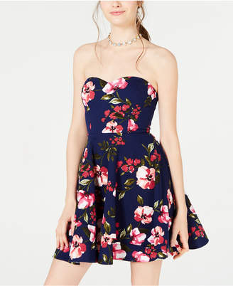 b55b2e97b B. Darlin Juniors' Strapless Fit & Flare Dress