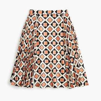 J.Crew Collection silk accordion pleated skirt in Ratti® tile print