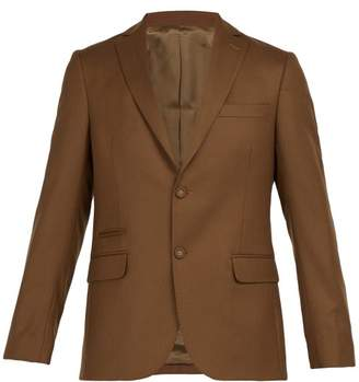 Officine Generale 375 Single Breasted Wool Blazer - Mens - Brown