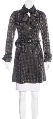 Burberry Studded Leather Trench Coat