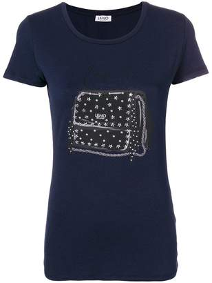 Liu Jo embellished bag print T-shirt