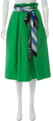 Emilio Pucci Pleated Midi Skirt