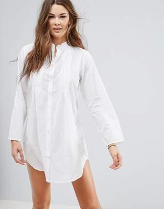 Silvia Rossini Pia White Cotton Shirt Style Tunic
