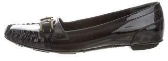 Fendi Patent Leather Square-Toe Loafers
