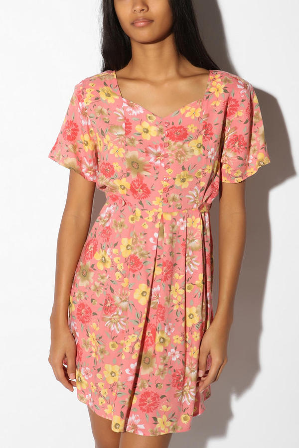 Urban Renewal Vintage 90s Blossom Babydoll Dress