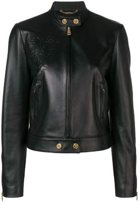 Versace embossed leather jacket