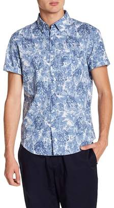 Original Penguin Short Sleeve Floral Print Heritage Slim Fit Shirt