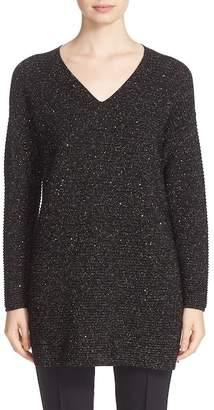 Lafayette 148 New York Sequin Silk Blend Knit Tunic