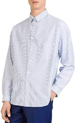 The Kooples Striped Regular Fit Oxford Button-Down Shirt