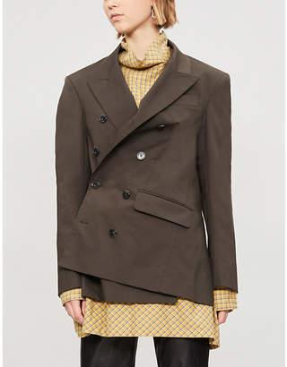 A.F.Vandevorst Brutal double-breasted wool jacket